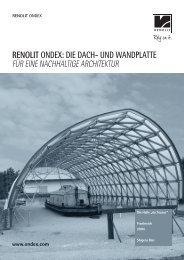 RENOLIT ONDEX: DIE DACH- UND WANDPLATTE FÜR EINE ...