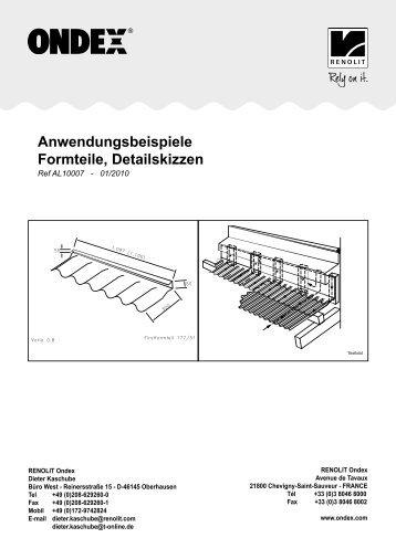 Anwendungsbeispiele Formteile, Detailskizzen - Renolit