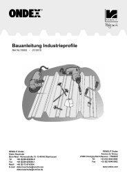 Bauanleitung Industrieprofile - Renolit