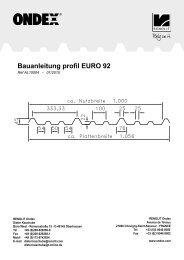 Bauanleitung profil EURO 92 - Renolit