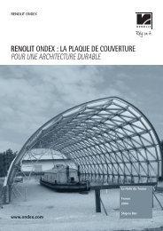 RENOLIT ONDEX : LA PLAQUE DE COUVERTURE POUR UNE ...