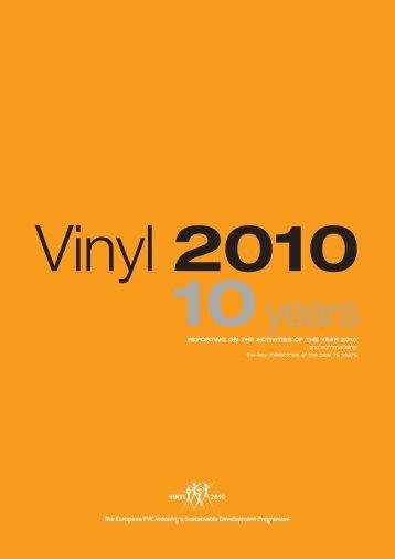 Vinyl 2010 Progress Report 2011 - VinylPlus