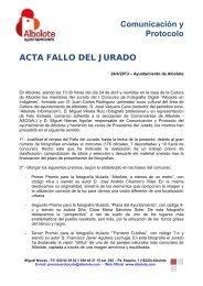 ACTA FALLO DEL JURADO CONCURSO FOTOGRAFIA ... - Albolote