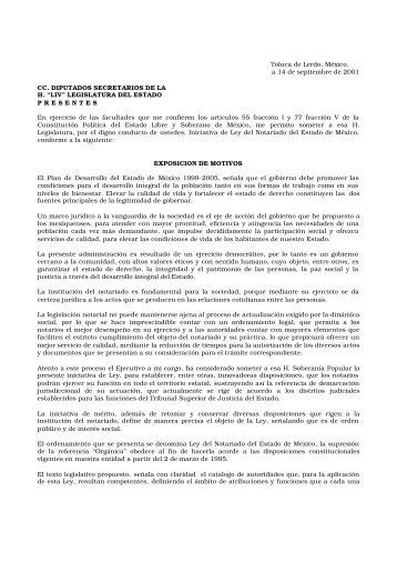 Ley del Notariado del Estado de México