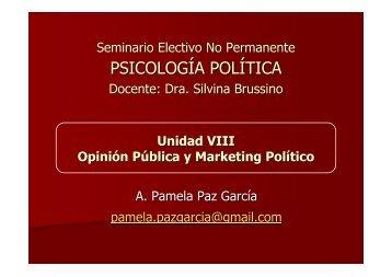 Opinión pública y comunicación política. - Grupo de Psicología Política