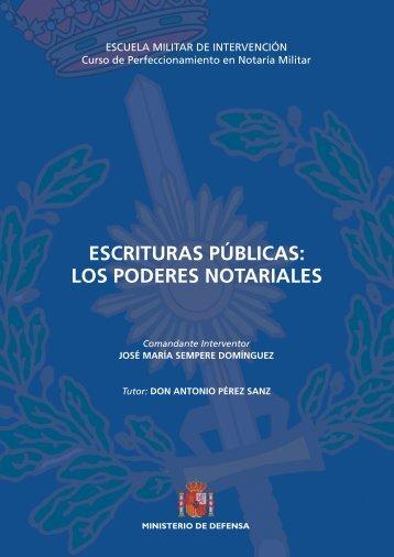 ESCRITURAS PÚBLICAS: LOS PODERES NOTARIALES - Portal de ...