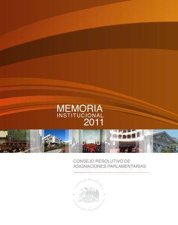 Memoria Institucional 2011 - Cámara de Diputados de Chile