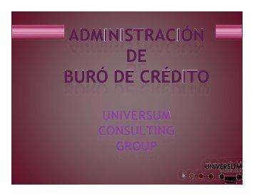 Buró de crédito - Universum Firma Legal