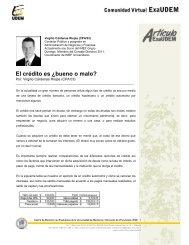 El crédito es ¿bueno o malo? - Universidad de Monterrey