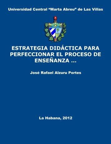 Estrategia didáctica para perfeccionar el proceso de enseñanza ...