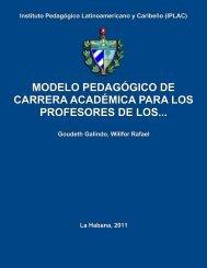 Modelo pedagógico de carrera académica para los profesores de ...