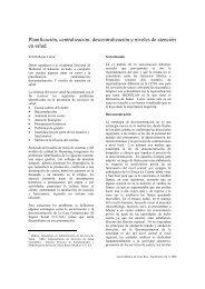 Planificación, centralización, descentralización y ... - CENDEISSS