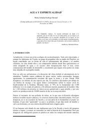 AGUA Y ESPIRITUALIDAD - Maria Soledad Gallego Bernad