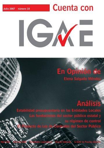 Revista Cuenta con IGAE nº 18. Julio 2007 - Intervención General ...