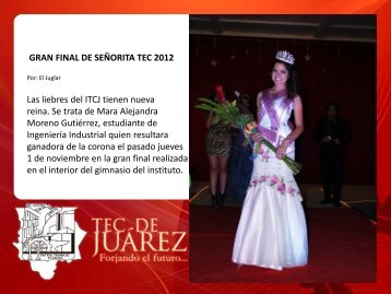 gran final de señorita tec 2012 - ITCJ