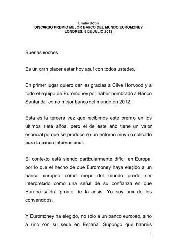 Discurso de Emilio Botín