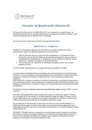 Convenio de Beneficios Ex Alumnos UC - Red Salud UC - Pontificia ...