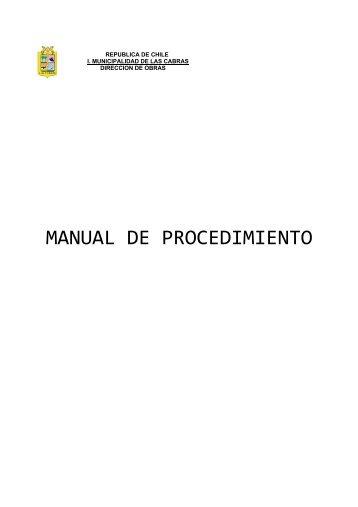 MANUAL DE PROCEDIMIENTO - Ilustre Municipalidad de Las Cabras
