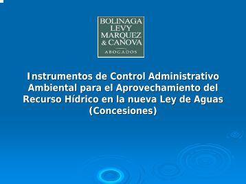 Régimen de Concesiones en la Ley de Aguas (G.O. 38.595 ... - Vitalis
