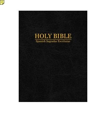 The Holy Bible: Spanish Sagradas Escrituras - thefeetofjesus.co.uk