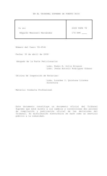 2008 TSPR 78 - Rama Judicial de Puerto Rico
