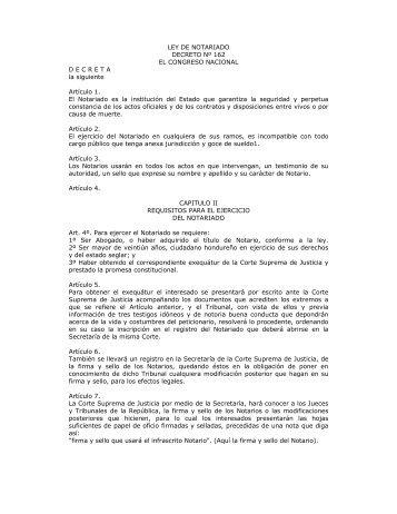 Ley de Notariado - Bufete Rosa y Asociados