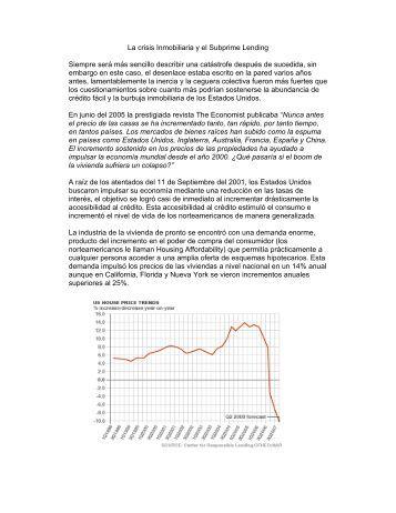 La crisis Inmobiliaria y el Subprime - Asociación Hipotecaria Mexicana