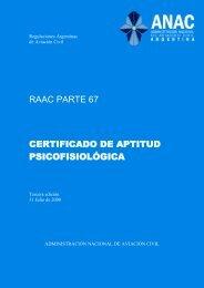 raac parte 67 certificado de aptitud psicofisiológica - Aero Club ...