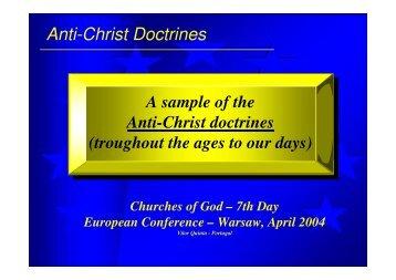 Anti-Christ Doctrines - kol shofar