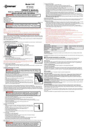 Crosman c41 Manual