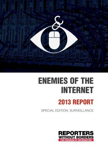 corporate enemies of the internet - Reporter ohne Grenzen