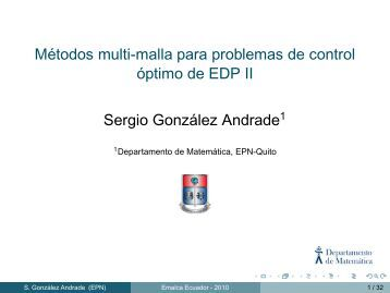 Métodos multi-malla para problemas de control óptimo de EDP II ...