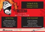Mittelaltermarkt Flyer - Stadt Altena