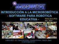 Programación y control Micro robots - Complubot