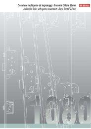 Serrature multipunto ad ingranaggi - Frontale Ottone 22mm ...
