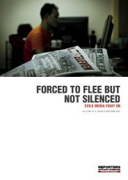 FORCED TO FLEE BUT NOT SILENCED - Reporter ohne Grenzen