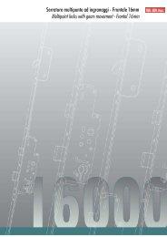 Serrature multipunto ad ingranaggi - Frontale 16mm Multipoint locks ...