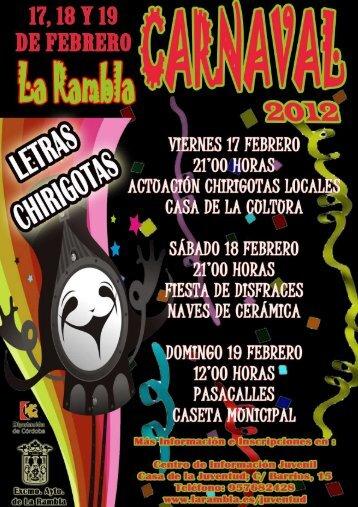 Letras de las Chirigotas Locales - La Rambla