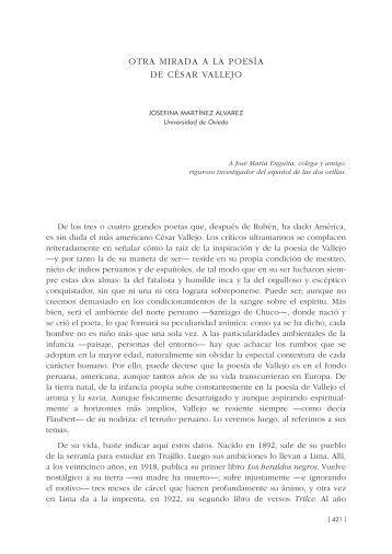 35. Otra mirada a la poesía de César Vallejo, por Josefina Martínez ...