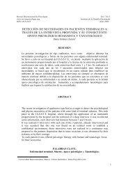 Deteccion de necesidades en pacientes terminales - Revista ...
