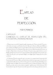 ESPEJO DE PERFECCIÓN - Tercera Orden Regular