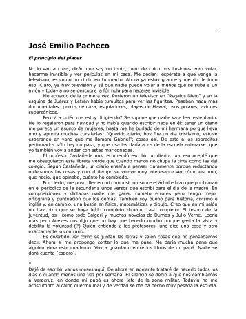 José Emilio Pacheco - clase clase