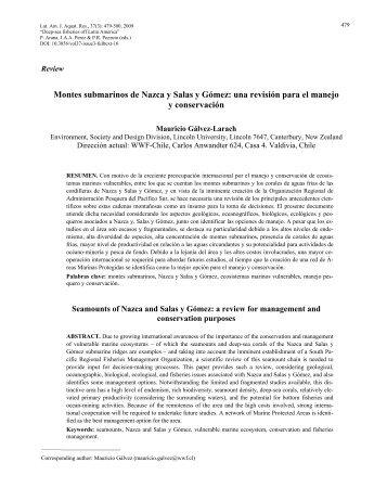 Montes submarinos de Nazca y Salas y Gómez - Latin American ...