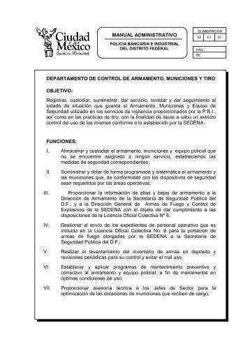el documento - Policía Bancaria e Industrial