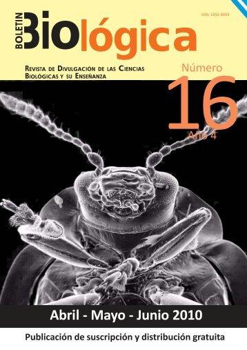Boletin Biologica 16(Tapa).pmd - Boletín Biológica