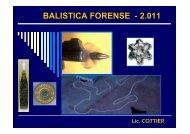 TEORIA E IMAGENES BALISTICA FORENSE Lic. COTTIER 2011