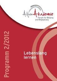 Programm 2/2012 - Altenakademie Dortmund