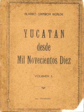 Y U C A T A N - Biblioteca Virtual de Yucatán