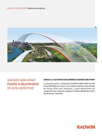 RADWIN 5000 HPMP PUNTO A MULTIPUNTO DE ALTA CAPACIDAD