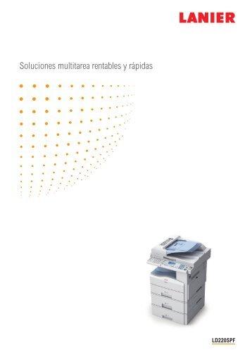 Descarga PDF - Lanier, Copiadoras, Impresoras, Fotocopiadoras ...